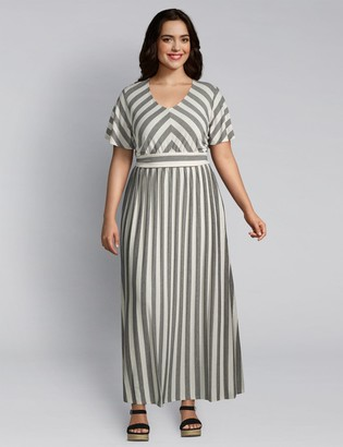 Lane Bryant Striped Maxi Dress