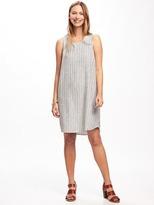 Old Navy Hi-Lo Linen-Blend Shift Dress for Women