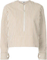 H Beauty&Youth zipped striped blouse