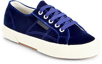 Superga THE ROW FOR Velvet Low-Top Sneakers