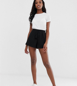 Asos Tall ASOS DESIGN Tall textured short with shirred waist and drawcord