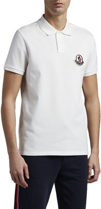 Moncler Men's Large Logo-Patch Polo Shirt