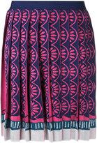 Mary Katrantzou Exene knitted knife pleat skirt - women - Polyamide/Polyester/Viscose - S