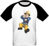Kra8er Kid's Fireman Sam Toddler Boys Girls Short Sleeves Blended T-Shirt 100% Cotton