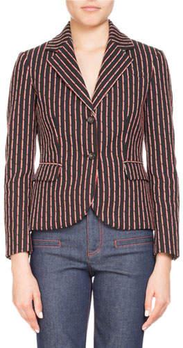 Altuzarra Trinity Pinstriped Two-Button Jacket