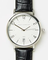 French Connection Kensington 44mm Leather Strap Watch