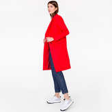 Paul Smith Women's Red Wool-Cashmere Epsom Coat