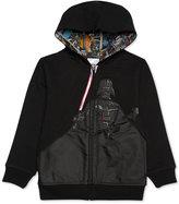 Star Wars Little Boys' Darth Vader Zip-Up Hoodie