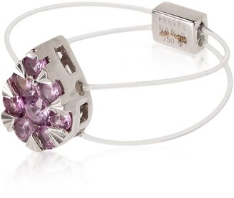 PERSÉE 18kt White Gold Sapphire Pear Cluster Ring