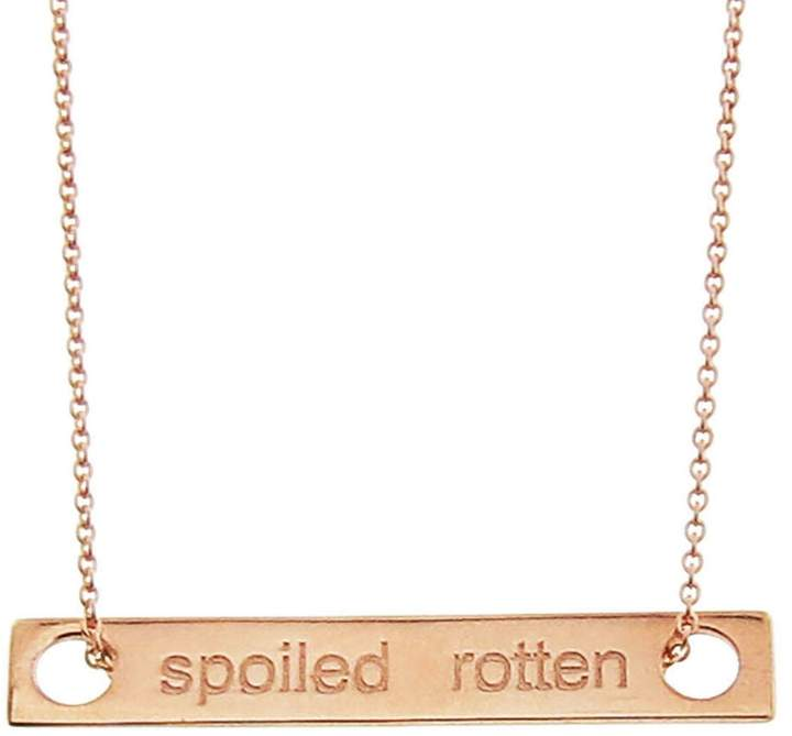 ginette_ny Mini Baguette Spoiled Rotten Necklace