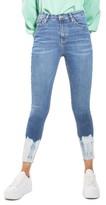 Topshop Women's Jamie Tie Dye Hem Skinny Jeans