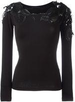 Ermanno Scervino sheer 'leaves' detailing blouse