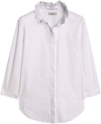 Nina Ricci Ruffled Cotton-poplin Shirt