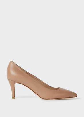 Hobbs Elouise Leather Stiletto Court Shoes