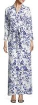 L'Agence Cameron Printed Silk Shirtdress