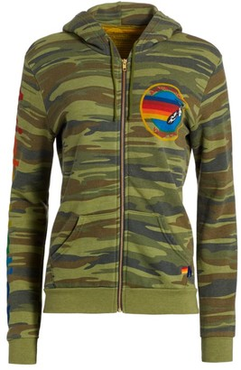 Aviator Nation Camo Zip-Front Hoodie