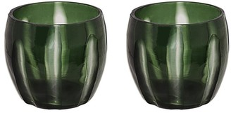 "Aspen Creative Corporation Aspen Creative Green Glass Votive Candle Holder 4-1/4"" Diameter x 4"" Height, 2 Pack"