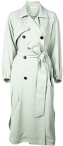 Tibi drape twill trench dress