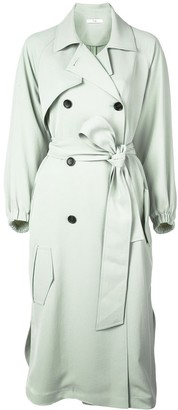 Tibi Drape Twill Trench Dress