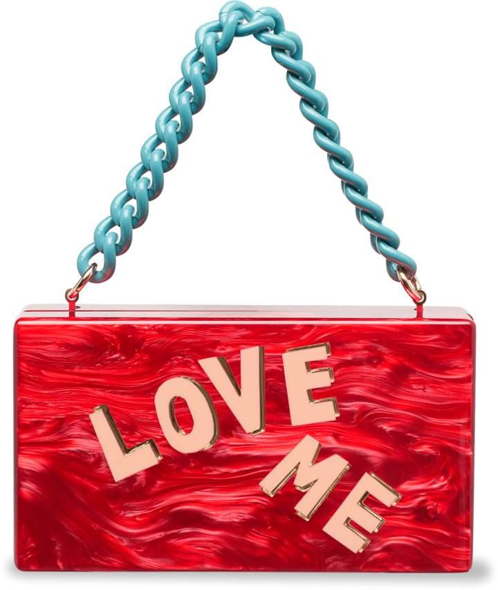Edie Parker Love Me Block Letter Jean Clutch