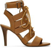 Chloé Brown Lace-Up Heeled Sandals