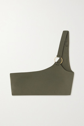 Melissa Odabash Majorca One-shoulder Embellished Bikini Top - Army green
