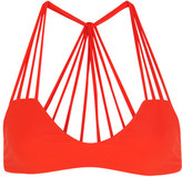 Mikoh Banyans Cutout Bikini Top - Bright orange