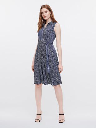 Diane von Furstenberg Emery Silk Crepe de Chine Belted Dress