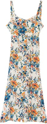 Angie Floral Button Tank Maxi Dress