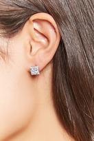 Forever 21 Cubic Zirconia Halo Stud Earrings