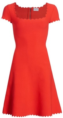Milly Scalloped Fit-&-Flare Dress