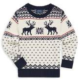 Ralph Lauren Toddler's, Little Boy's & Boy's Reindeer Sweater
