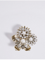 M&S Collection Floral Cluster Brooch