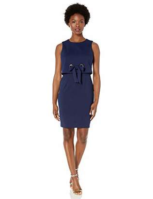 Jessica Howard Women's Petite Sleeveless Popover Sheath Dress