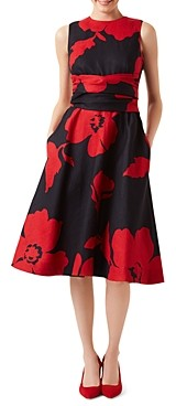 Hobbs London Twitchill Tie-Waist Floral Dress