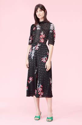 Rebecca Taylor Noha Floral Mock Neck Dress