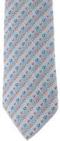 Hermes Silk Droplet Print Tie