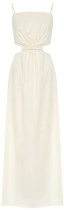 Johanna Ortiz White Sand stretch-cotton maxi dress