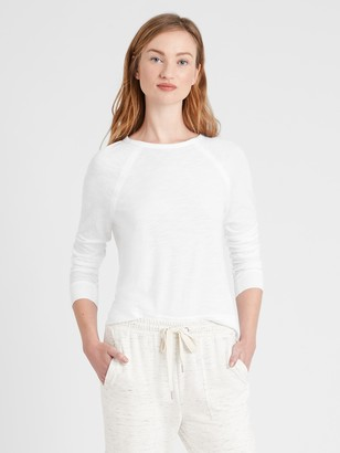 Banana Republic Slub Cotton-Modal Raglan T-Shirt
