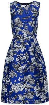 Carolina Herrera Floral jacquard midi dress
