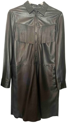 SET Black Leather Dress for Women