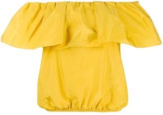Pinko Ruffled Off-Shoulder Blouse
