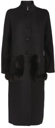 D-Exterior D.Exterior Fox Fur-Trim Coat