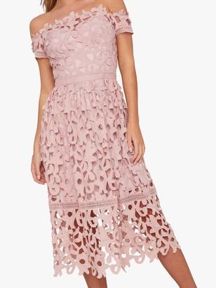Chi Chi London Lizia Crochet Dress, Pink