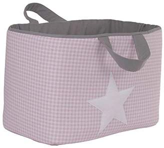 Camilla And Marc Funny Baby Vichy juguetero Padded 30 x 45 x 27 cm, Design Stars, Pink