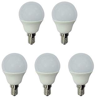 A2BC LED Lighting 554009800600 – Pack of 5 Spherical LED Bulb 6 W Equivalent to 40 W With Cold Light