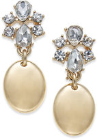 Charter Club Gold-Tone Crystal Drop Earrings, Only at Macy's
