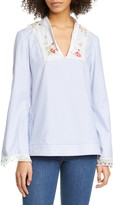 Tory Burch Embroidered Stripe Tunic