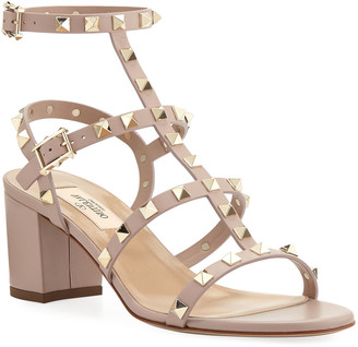 Valentino Garavani Rockstud Leather 60mm City Sandals