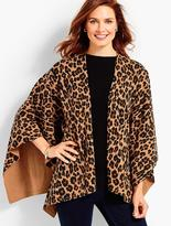 Talbots Animal-Print Ruana